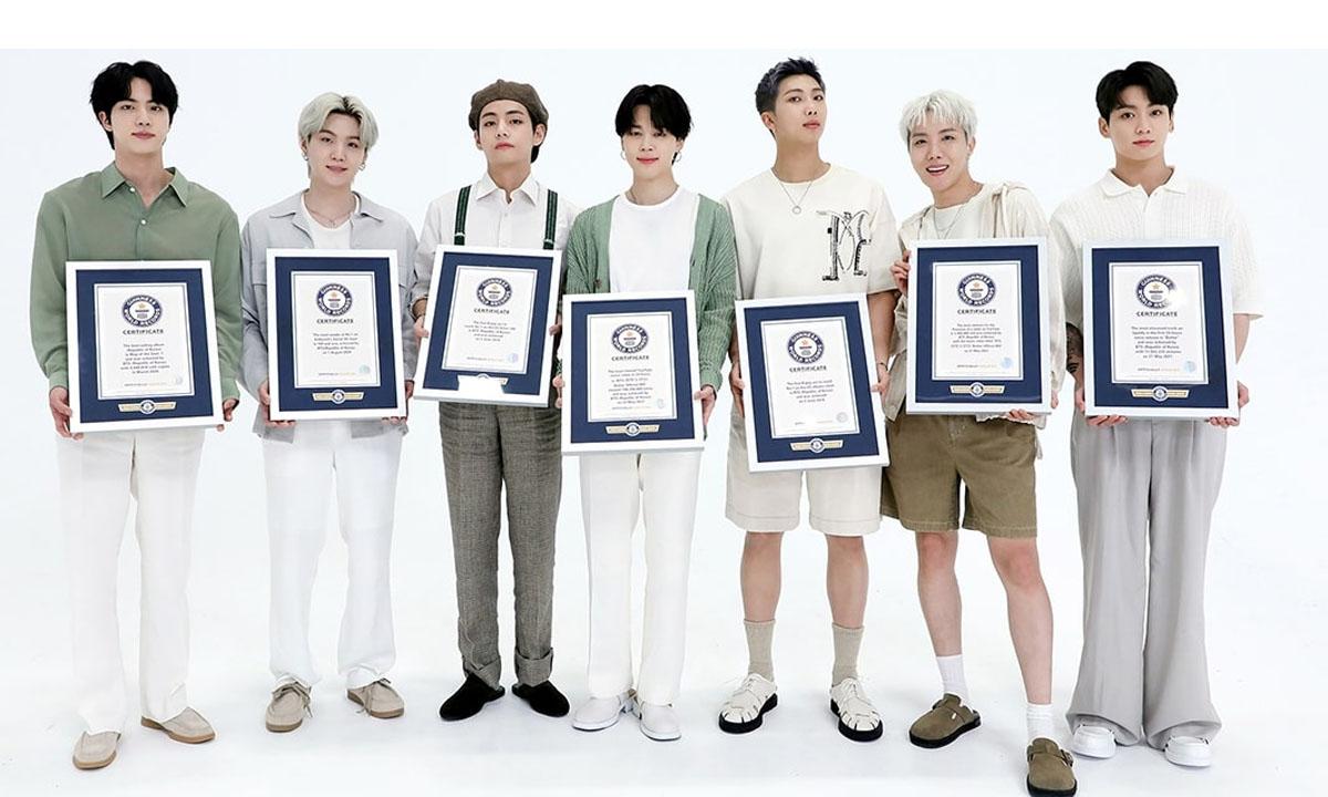 BTS entra al Salón de la Fama de los Récords Mundiales Guinness