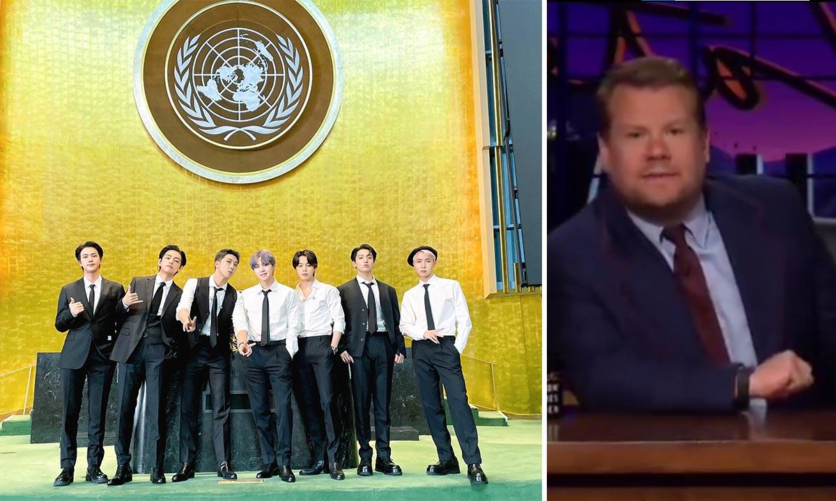 James Corden desata polémica por sus comentarios hacia BTS y su visita a la ONU